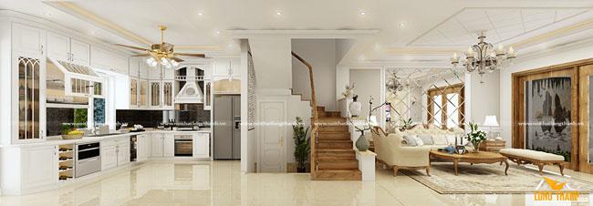 Dự án thiết kế nội thất biệt thự liên kề LA 02 - 08 dự án Green Pearl 378 Minh Khai