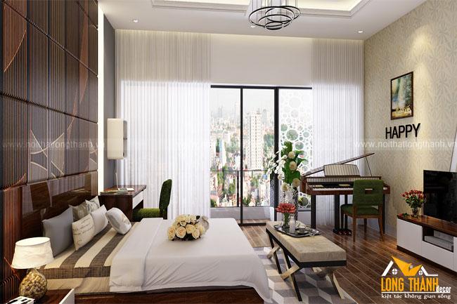 Dự án thiết kế phòng khách, phòng ngủ con trai đình anh Minh chị Hương – biệt thự Minh Khai, Hà Nội