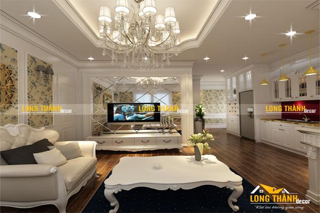 Dự án thiết kế phòng khách tân cổ điển cho gia đình anh Hiệp – Hà Nội