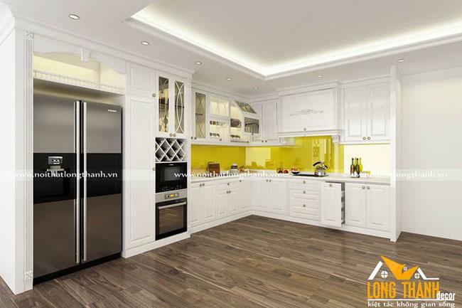 Dự án thiết kế, sản xuất tủ bếp nhà anh Phán – Chung cư Gold Mark City Hồ Tùng Mậu