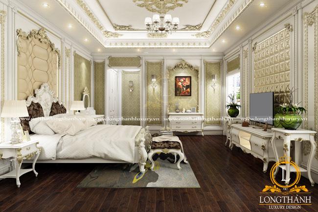 Dự án thiết kế thi công nội thất phòng ngủ cho gia đình anh Hoàng, biệt thự Gamuda Yên Sở
