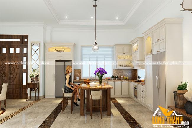 Dự án thiết kế, thi công phòng bếp nhà chị Oanh – Đồng Hới, Quảng Bình