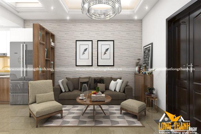 Dự án thiết kế, thi công phòng khách liên thông bếp nhà chị Mai – Hồ Đền Lừ, Hà Nội