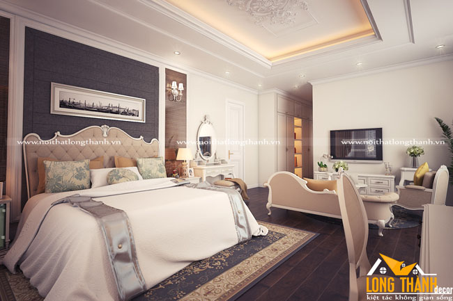 Dự án thiết kế, thi công phòng ngủ Master, phòng ngủ con gái nhà chị Oanh – Biệt thự ở Đống Hới, Quảng Bình