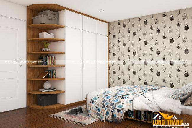 Dự án thiết kế, thi công phòng ngủ nhà cô Hương – chú Tấn – Chung cư An Bình – Cầu Giấy