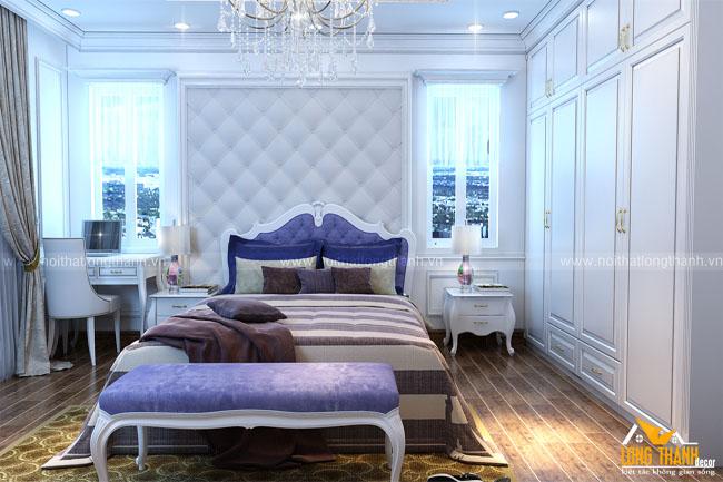 Dự án thiết kế, thi công phòng ngủ, phòng sinh hoạt chung, phòng thư giãn và phòng ăn chị Thùy – Bắc Giang