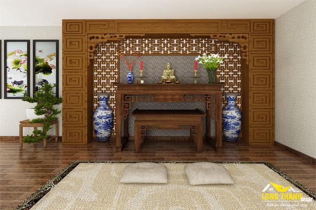 Dự án thiết kế, thi công phòng thờ cho nhà anh Thắng – chị Vinh, Cầu Giấy, Hà Nội.