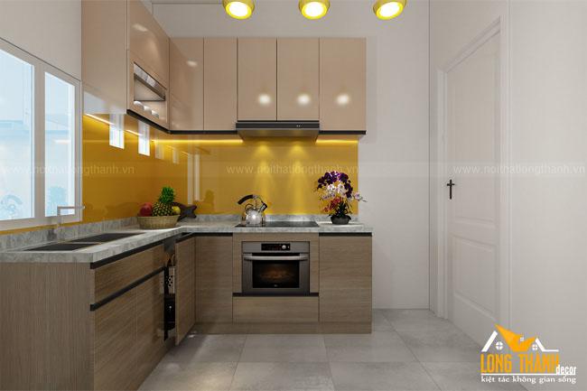Dự án thiết kế, thi công sản xuất tủ bếp Acrylic hiện đại nhà anh Hiếu Hàng Buồm