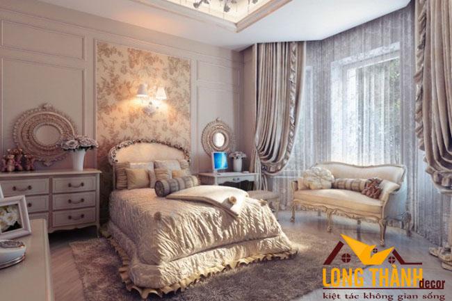 Giường ngủ tân cổ điển sang trọng và đẳng cấp dành riêng cho các cô gái