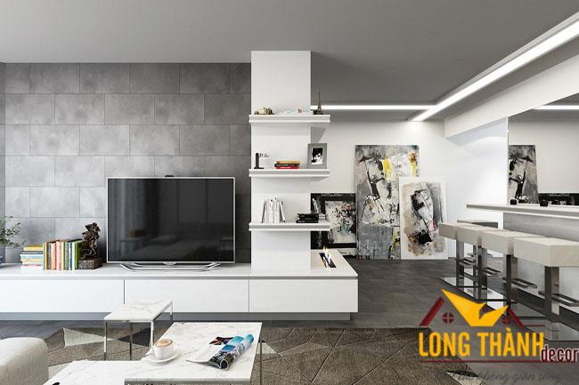 Gỗ Acrylic trong thiết kế nội thất chung cư năm 2016