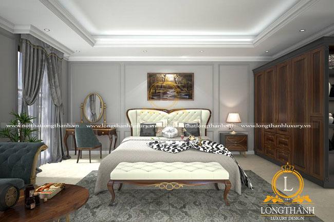Hãy tận hưởng cuộc sống cùng phòng ngủ tân cổ điển của Nội Thất Long Thành