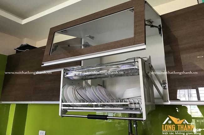 Hình ảnh thực tế công trình nội thất tủ bếp Acrylic nhà chị Bình – Văn Chương