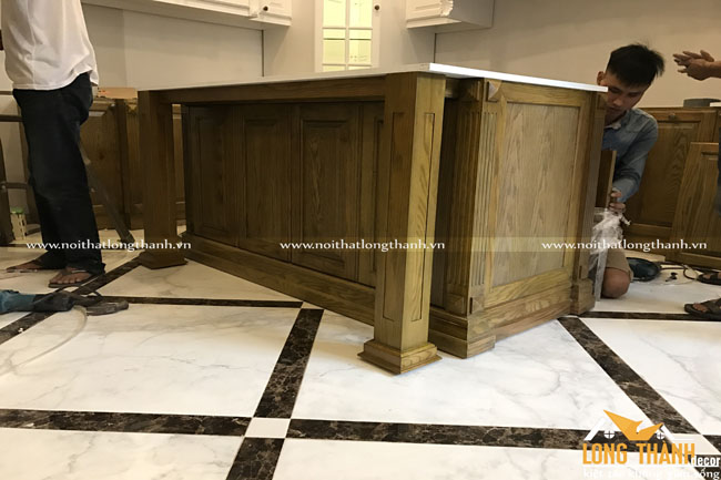 Hình ảnh thực tế công trình nội thất tủ bếp nhà anh Quốc Anh – Thái Nguyên