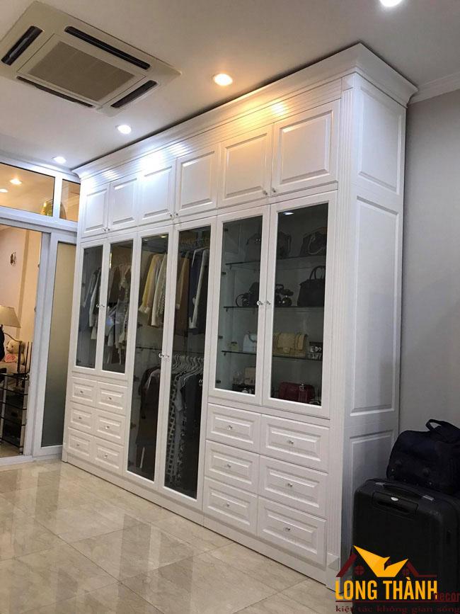 Hình ảnh thực tế công trình tủ thay đồ nhà Cô Dung 129 Hàng Bông