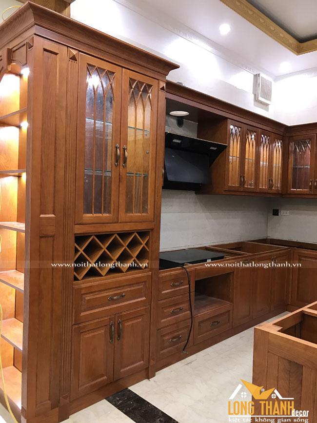 Hình ảnh thực tế thi công bếp nhà Chị Nguyệt Nam Định và bếp nhà chị Hiền Hoài Đức Hà Nội