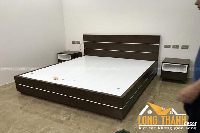 Hình ảnh thực tế thi công công trình phòng ngủ cô Ngà – Minh Khai