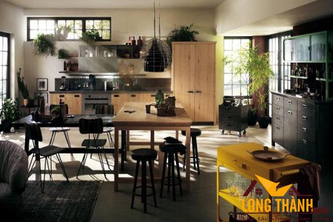 Làm mới không gian nhà bếp bằng cây xanh