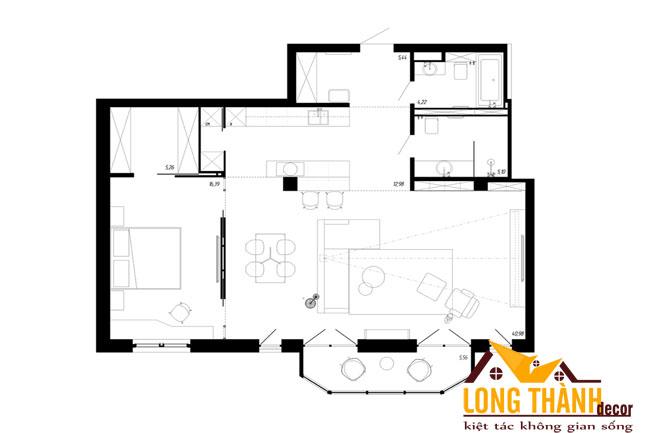 Lên phương án bố trí mặt bằng nội thất không gian thông minh dành cho căn hộ chung cư diện tích nhỏ