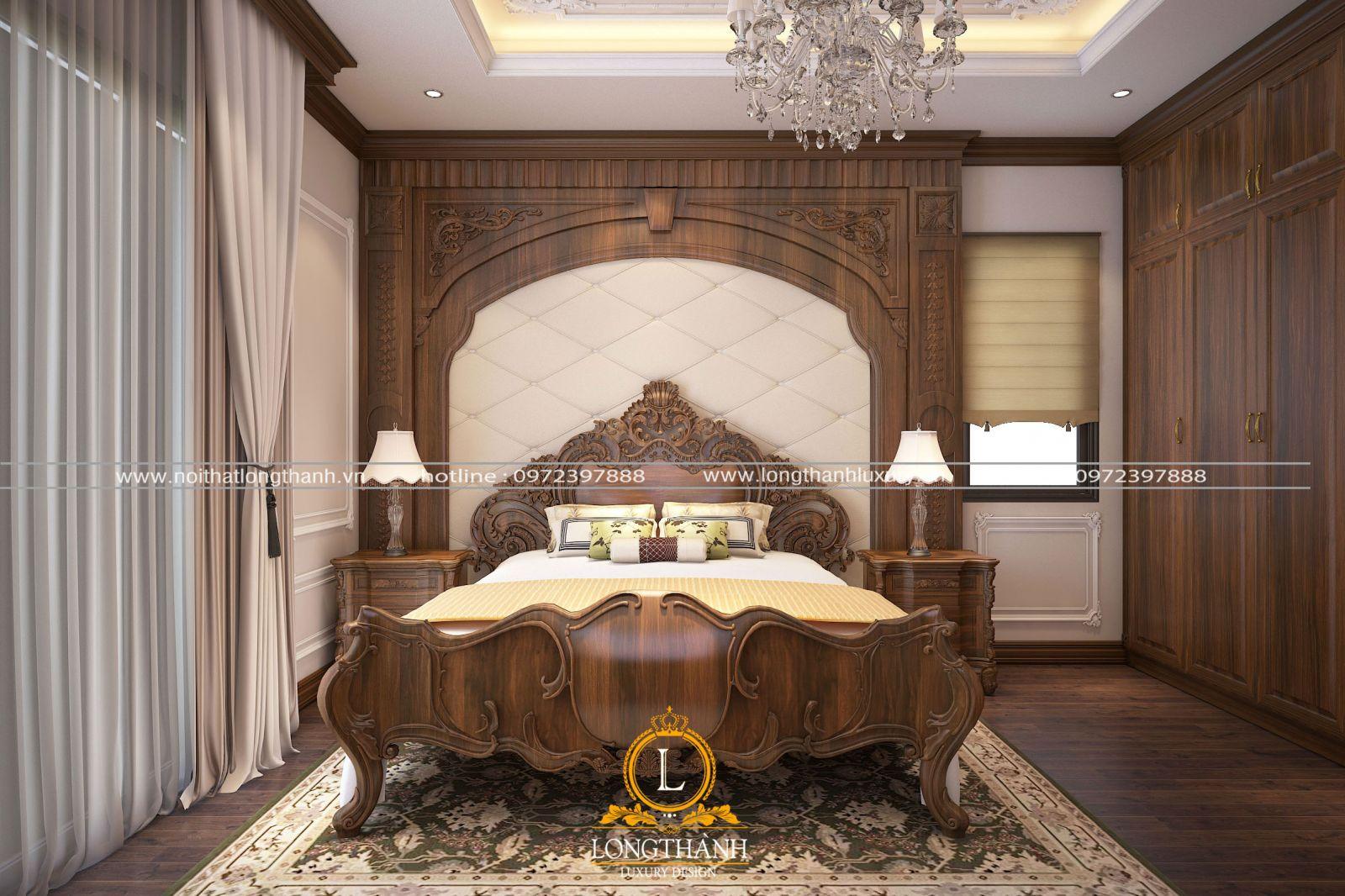 Thiết kế không gian nội thất phòng ngủ nhà phốgóc nhìn chính diện