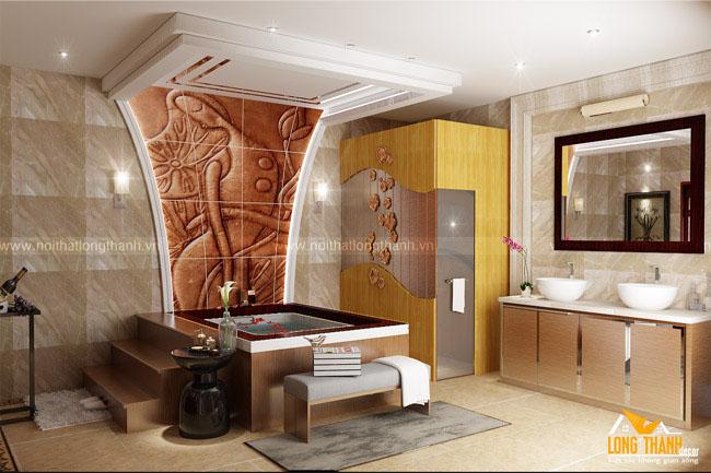 Mẫu thiết kế nội thất phòng tắm sang trọng dành cho nhà ở biệt thự