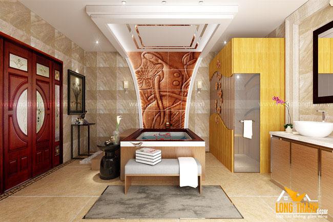 Mẫu nội thất phòng tắm sang trọng dành cho nhà ở biệt thự