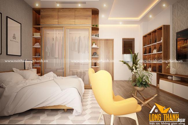 Mẫu phòng ngủ hiện đại đẹp cho phòng ngủ rộng