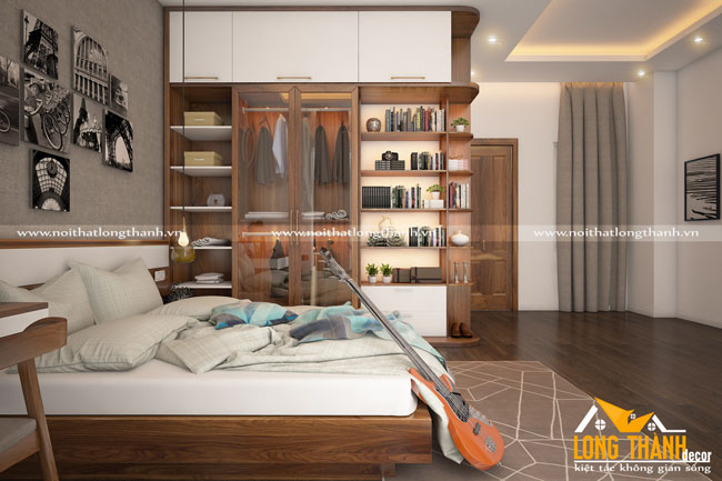 Mẫu phòng ngủ hiện đại gỗ tự nhiên đẹp năm 2017