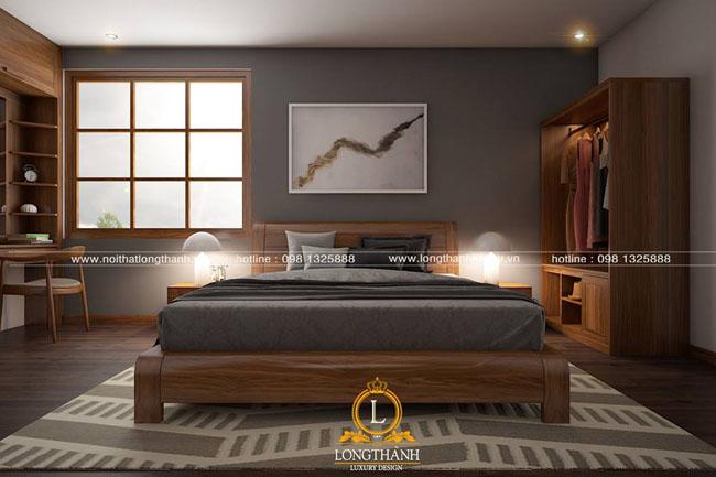 Mẫu phòng ngủ hiện đại gỗ tự nhiên hót cho năm 2018