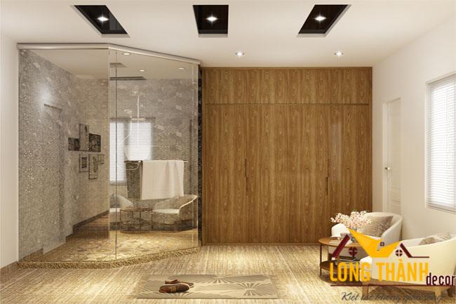 Thiết kế nội thất phòng ngủ hiện đại master dành cho nhà phố rộng