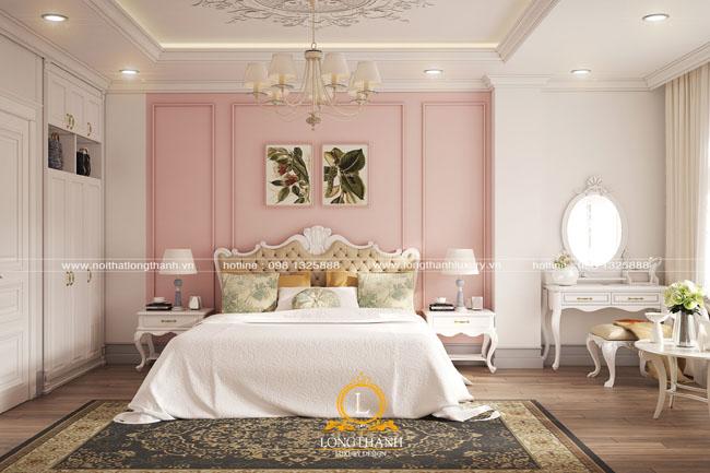 Mẫu phòng ngủ tân cổ điển dành cho con gái năm 2018