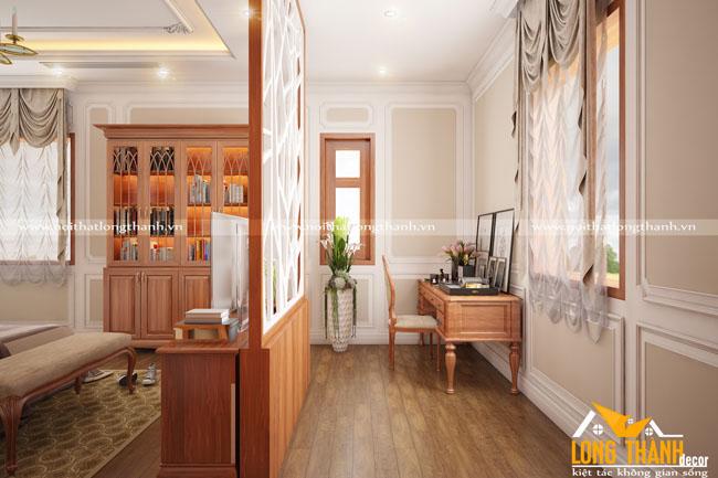 Mẫu phòng ngủ tân cổ điển gỗ Gõ – xu hướng thiết kế nội thất phòng ngủ năm 2017