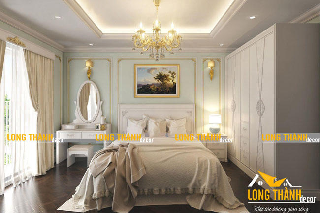 Mẫu phòng ngủ tân cổ điển hot nhất năm