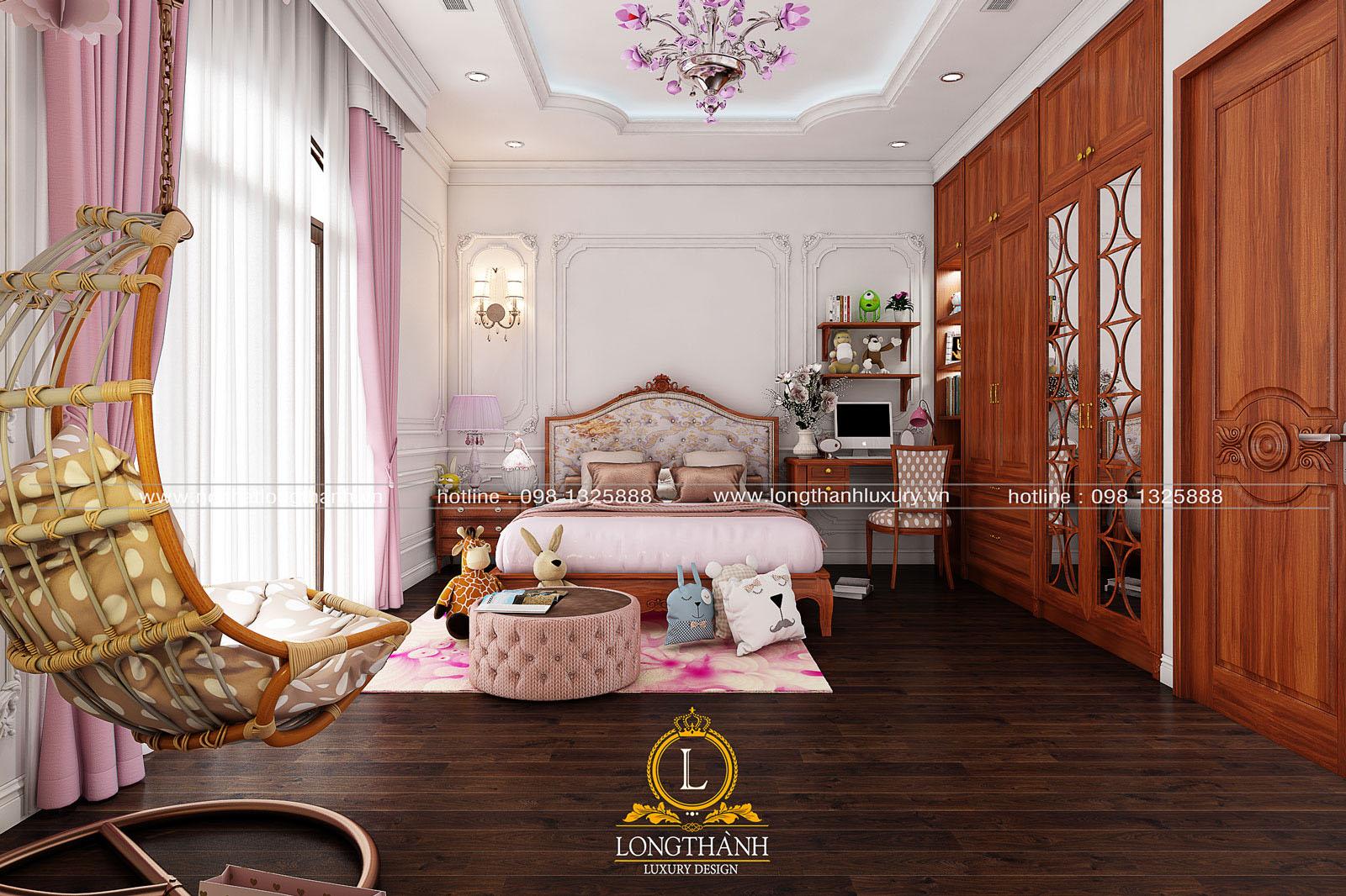Phòng ngủ của cô con gái đáng yêu