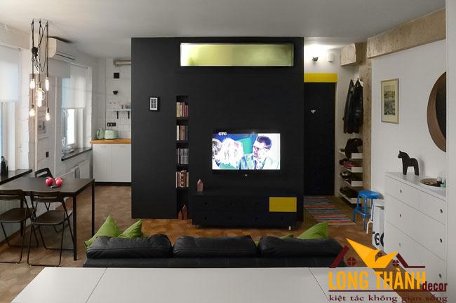 Mẫu thiết kế nội thất chung cư mini với 1 phòng ngủ