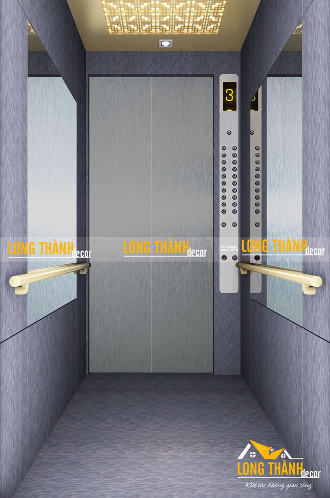 Mẫu thiết kế nội thất cầu thang máy hiện đại cho nhà dân