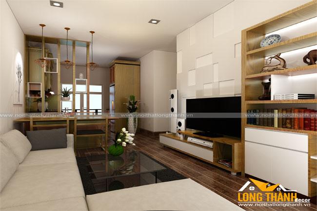 Mẫu thiết kế nội thất chung cư hẹp về chiều rộng