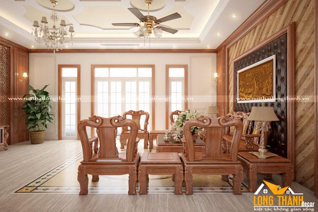 Mẫu thiết kế nội thất tân cổ điển cho phòng khách