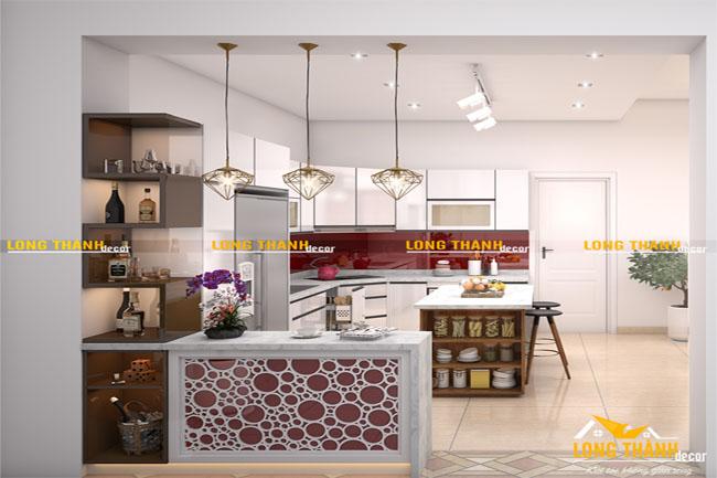 Mẫu thiết kế phòng bếp hiện đại cho nhà phố