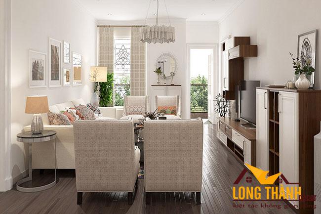 Mẫu thiết kế phòng khách đẹp, tiện dụng cho các căn hộ chung cư