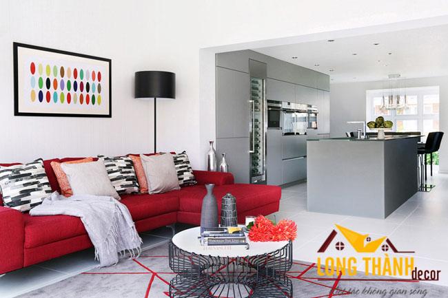Mẫu thiết kế phòng khách hiện đại, đơn giản dành cho các căn hộ chung cư nhỏ