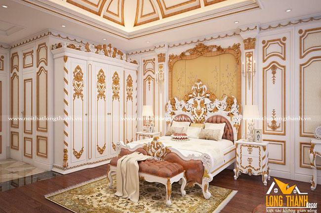Mẫu thiết kế phòng ngủ cổ điển cho nhà biệt thự rộng