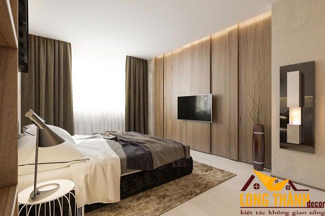 Mẫu thiết kế phòng ngủ hiện đại bằng chất liệu gỗ Laminate