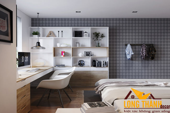 Mẫu thiết kế phòng ngủ hiện đại dành cho tuổi teen