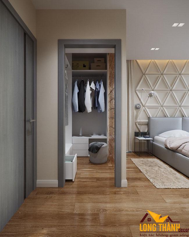 Mẫu thiết kế phòng ngủ hiện đại sử dụng vách ốp 3D
