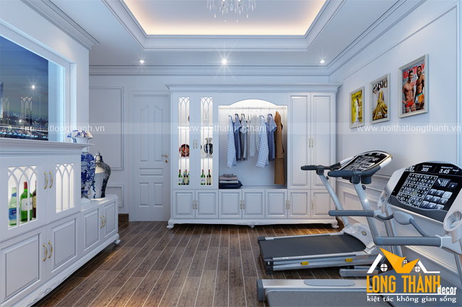 Mẫu thiết kế phòng sinh hoạt chung theo phong cách tân cổ điển cho nhà biệt thự rộng