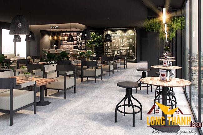 Mẫu thiết kế quán cafe phong cách nhất Nội Thất Long Thành