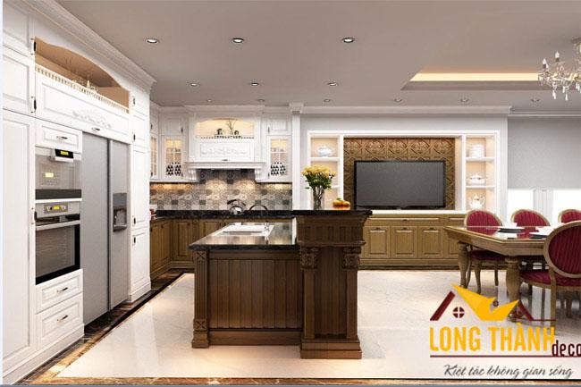 Mẫu tủ bếp đẹp cho nhà biệt thự