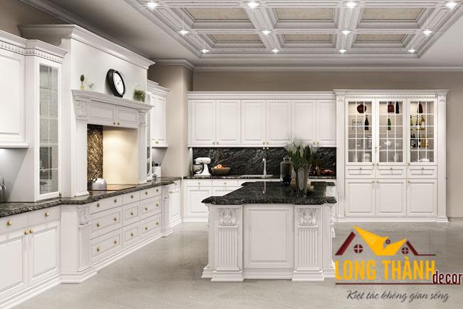 Mẫu tủ bếp đẹp cho nhà chung cư cao cấp