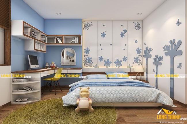 Nhẹ nhàng, đáng yêu cùng phòng ngủ bé gái