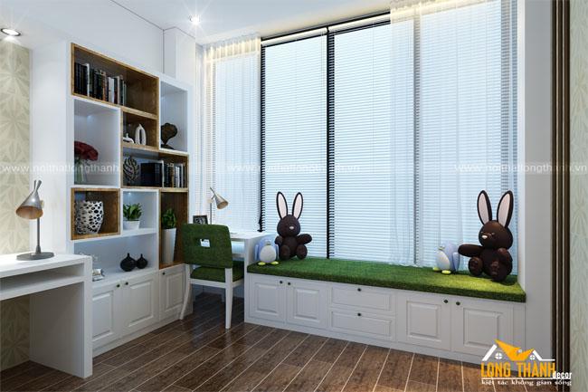 Nhẹ nhàng, sang trọng cùng với mẫu thiết kế phòng ngủ dành cho bé theo phong cách tân cổ điển